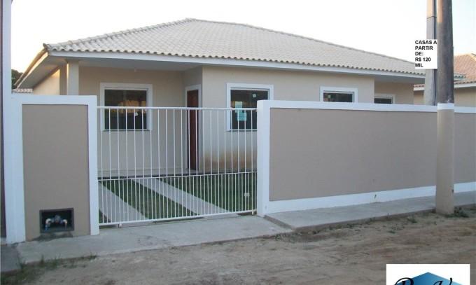 Oportunidade ! Casa Nova – Araruama-RJ – Areal – 2 quartos – R$ 120 mil