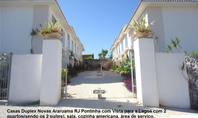 Vendo Casas Duplex Novas Araruama RJ Pontinha 2 Suítes Vista Para a Lagoa VDCS272
